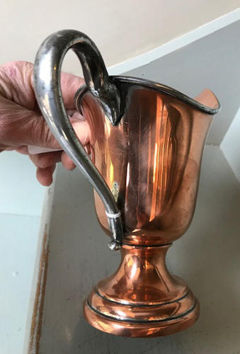 Victorian Copper Cream Jug