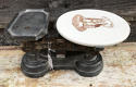 Victorian Ceramic Dairy Scales - picture 1