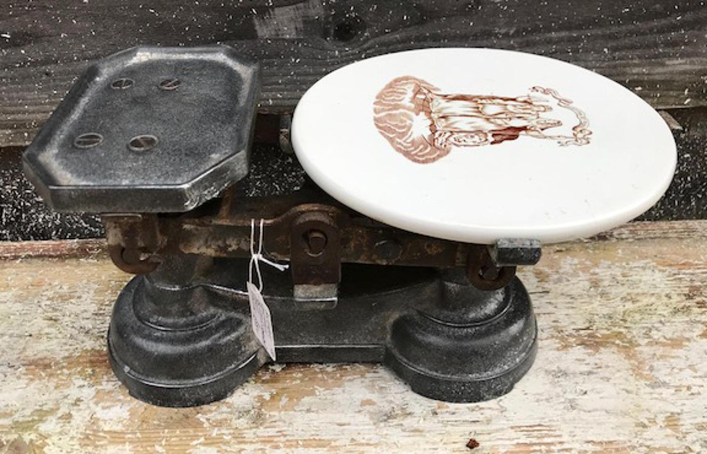 Victorian Ceramic Dairy Scales
