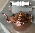 Victorian Copper Kettle with glass handle - picture 3