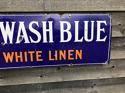 Antique Enamel Advertising Colman's Wash Blue - picture 1