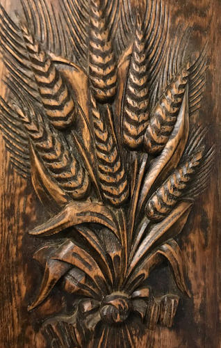 Antique Carved Panel - Wheatsheaf