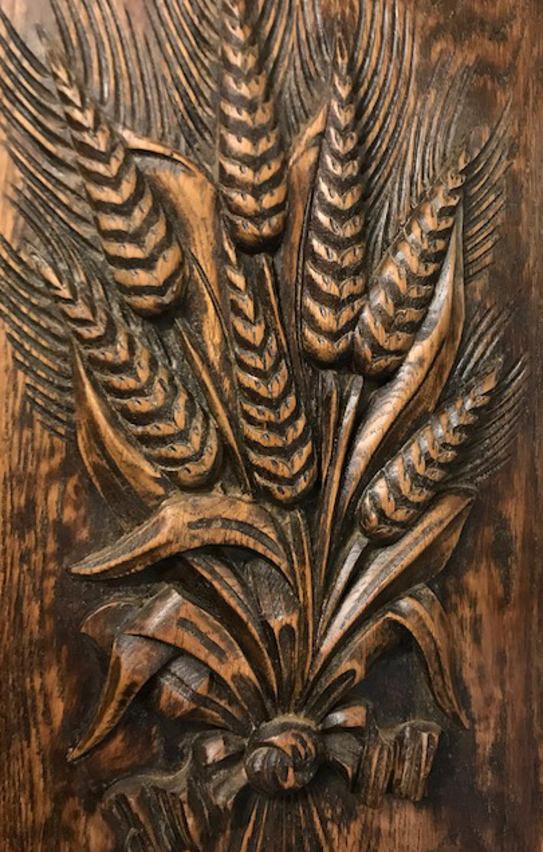 Antique Carved Panel - Wheatsheaf