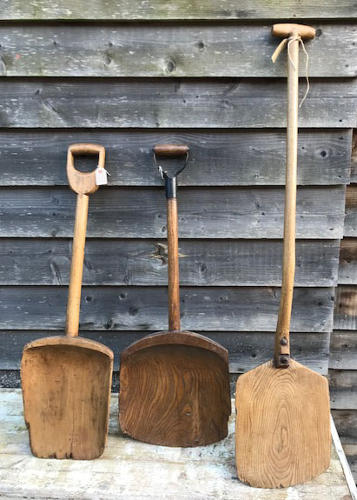 Various Malt (Grain) Shovels