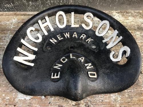 Vintage Nicholson's of Newark Tractor Seat