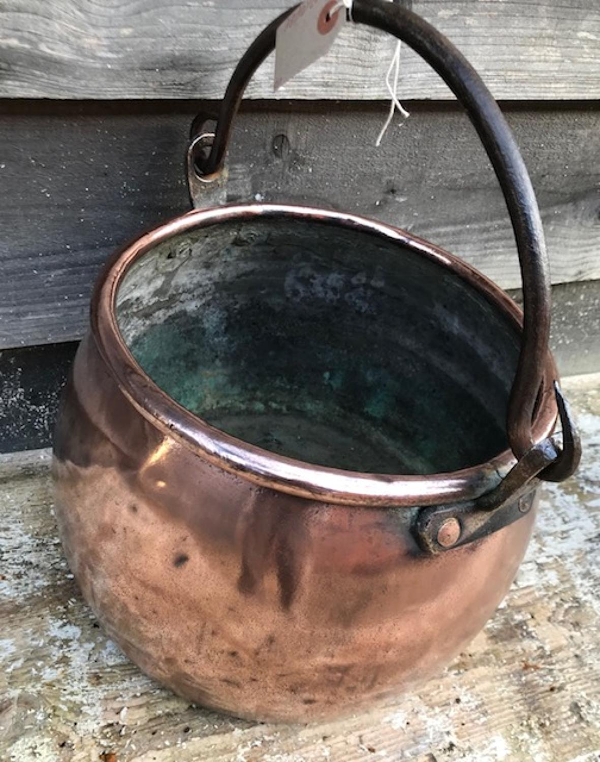 Georgian Copper Stock Pot