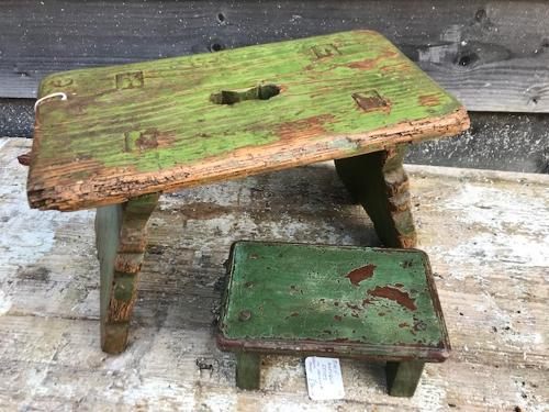 Antique Cottage Stools