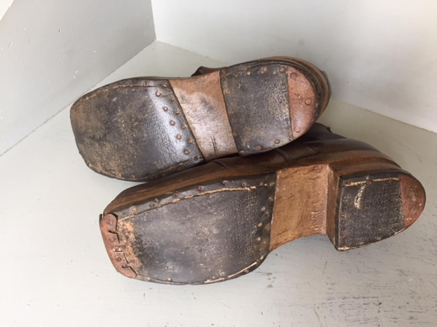 Antique Clog Shoes