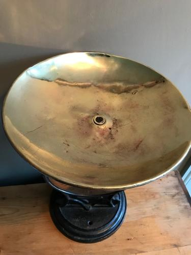 Large Brass Faced Salter Scales
