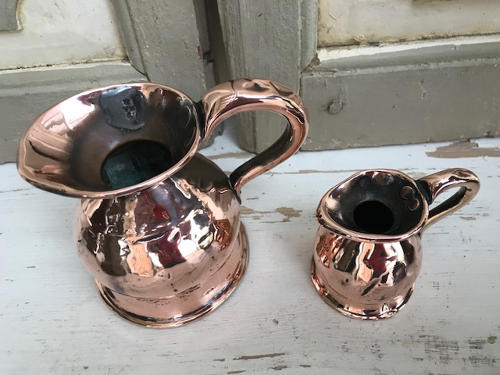 Tiny Victorian Copper Ale Measures