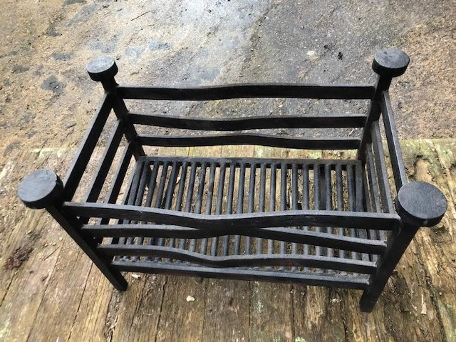 Large Antique Wrought Iron Inglenook Fire Grate