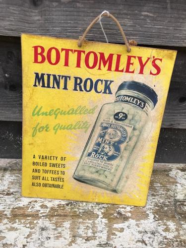 Bottomleys' Mint Rock Showcard