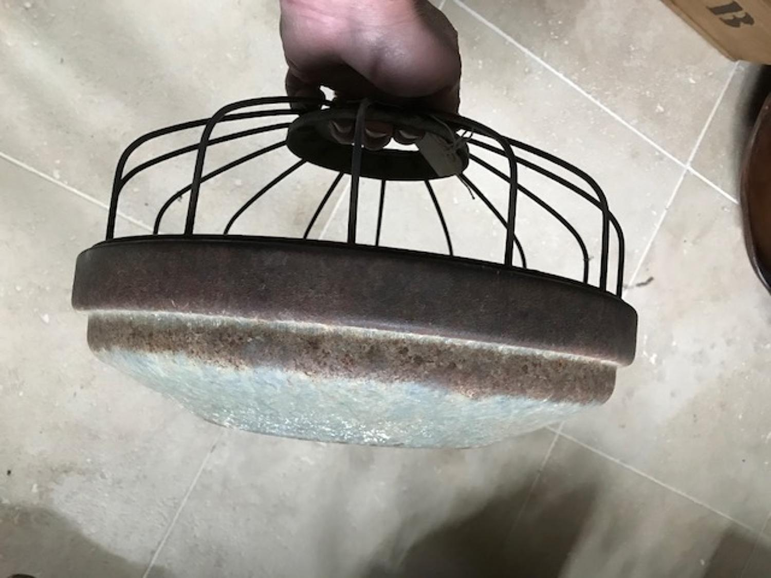 Vintage Galvanised Chicken Feeder