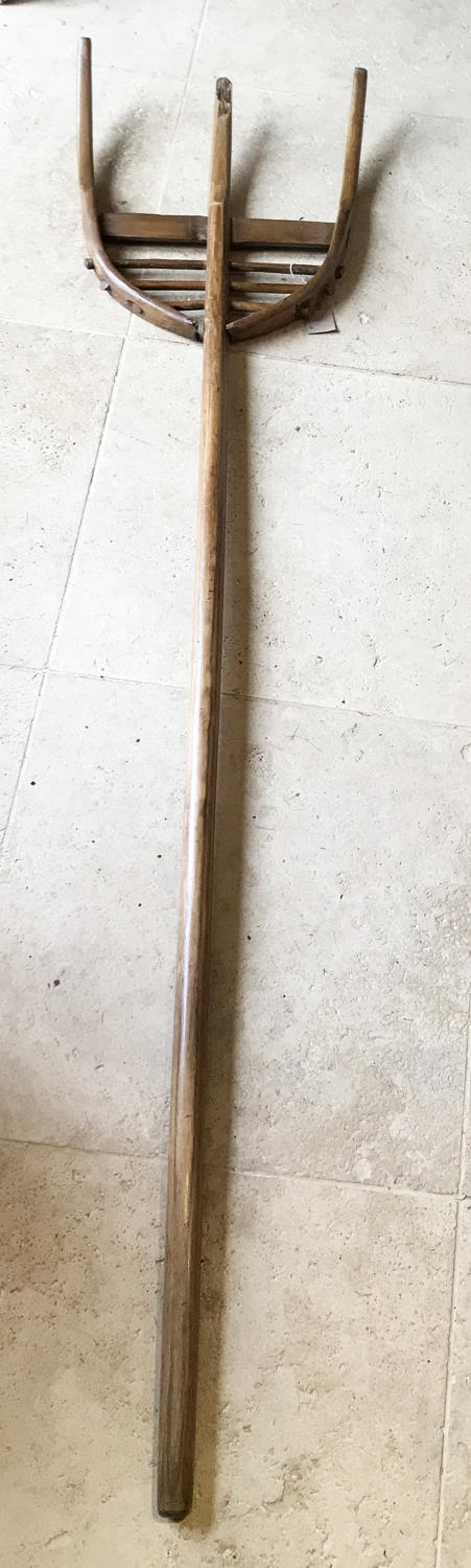 19th Cent All Wood Hay Fork