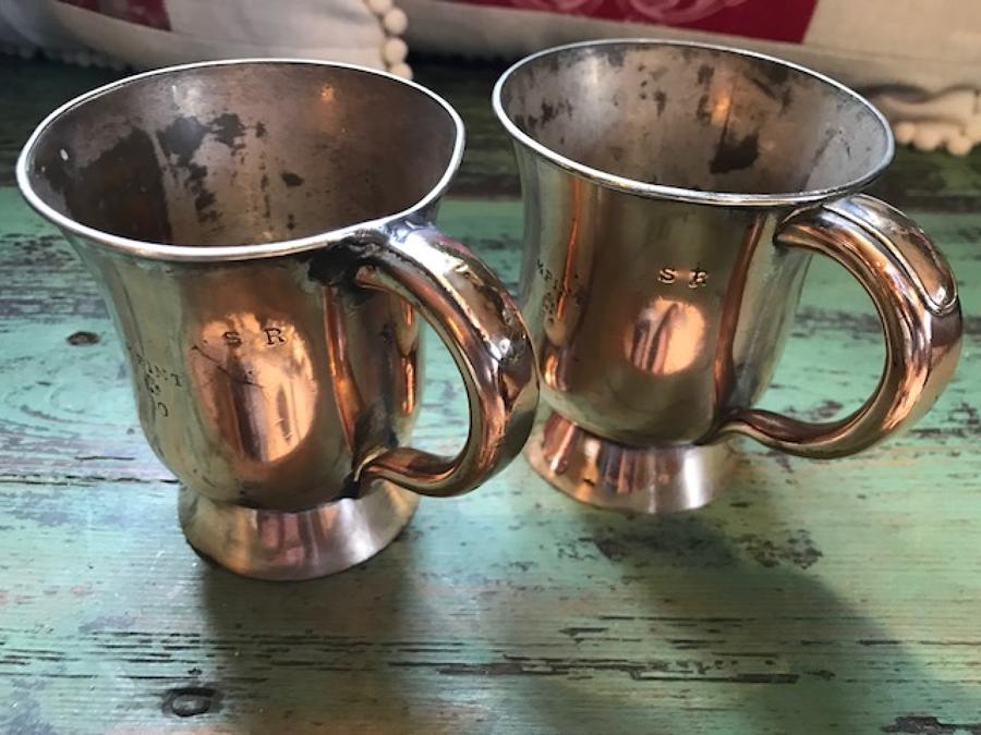 Edwardian Copper 1/5 pint Pub Tankards