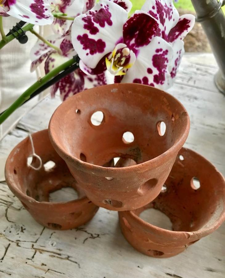 Antique Orchid Pots