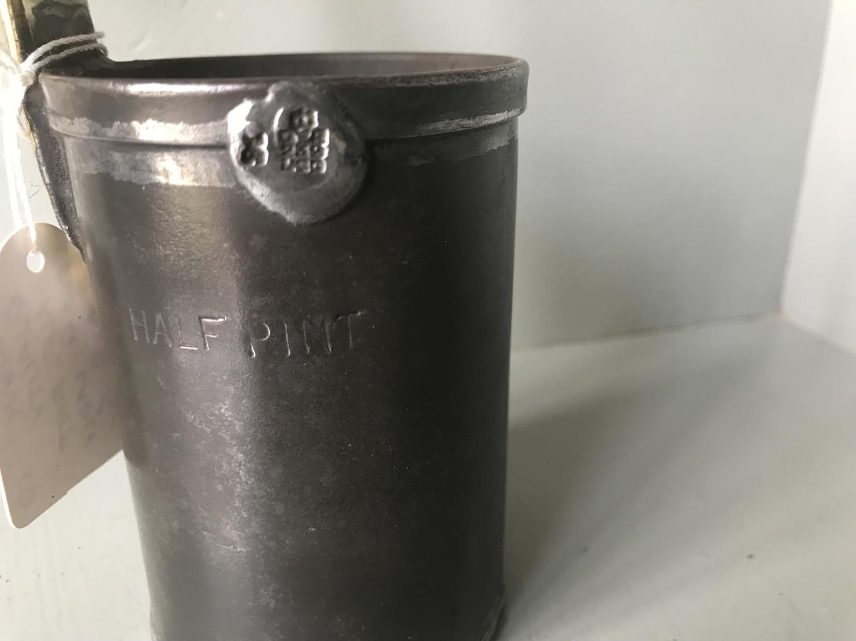 Antique Half Pint Cream Ladle with brass handle