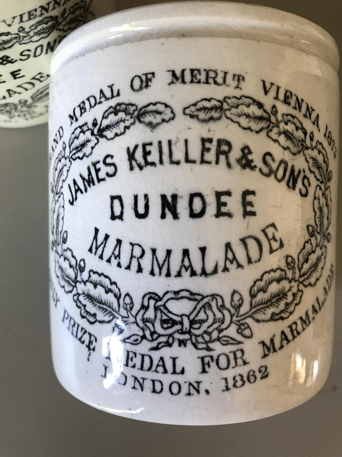 Early Keiller Marmalade Jars
