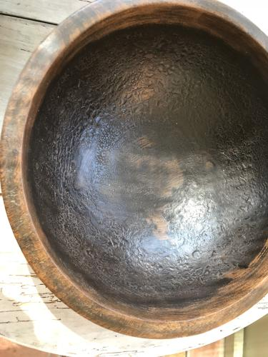 Antique Dairy Bowl with good inner Patination