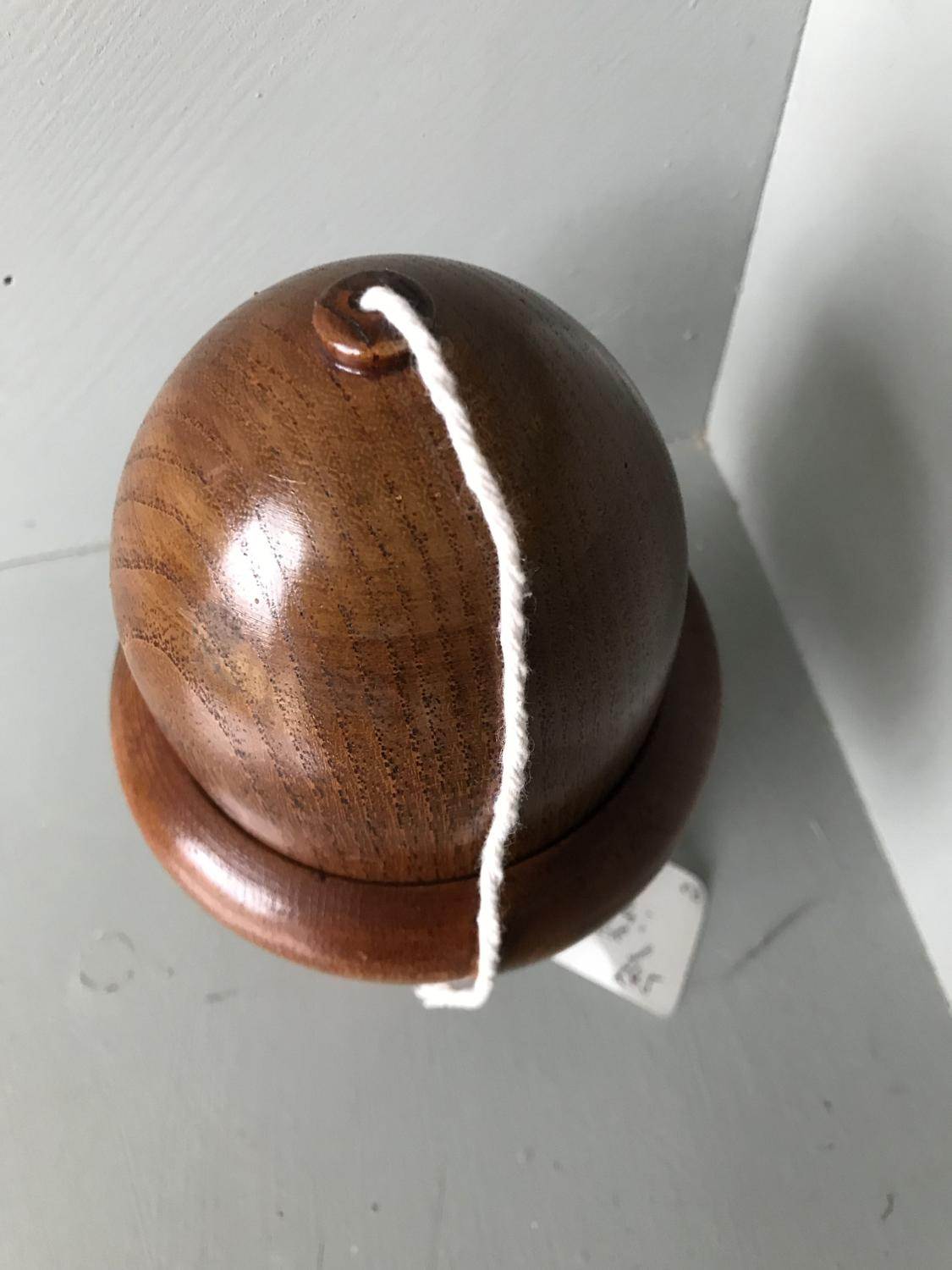1930's Oak Acorn String Holder