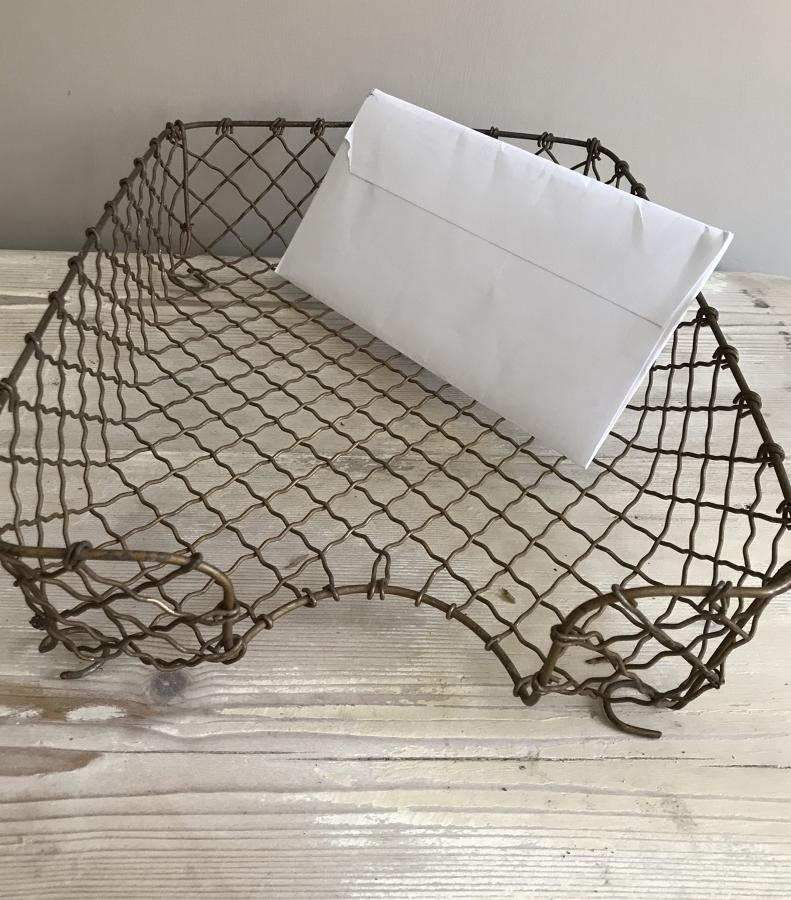 Vintage Brass Wirework Intray A4