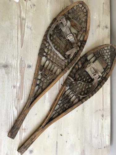 Rare Vintage Child's Snow Shoes