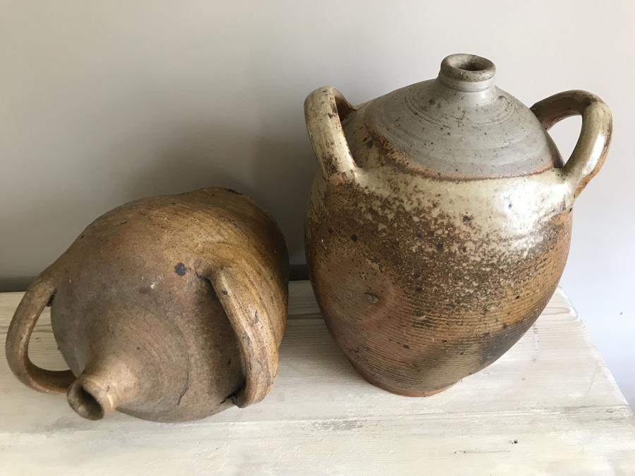 Antique olive Oil Jars and Flagons