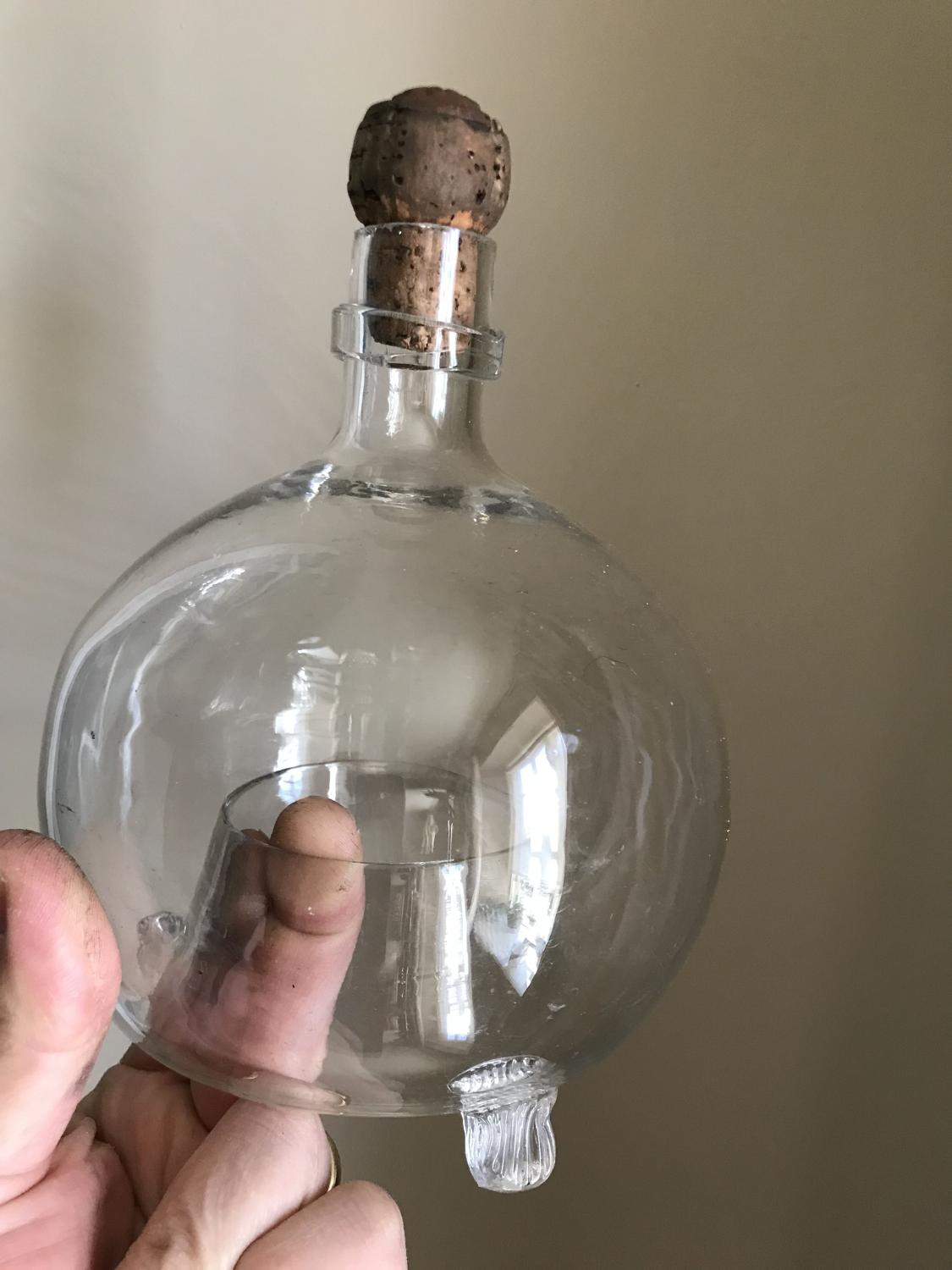 Victorian Glass Wasp Trap