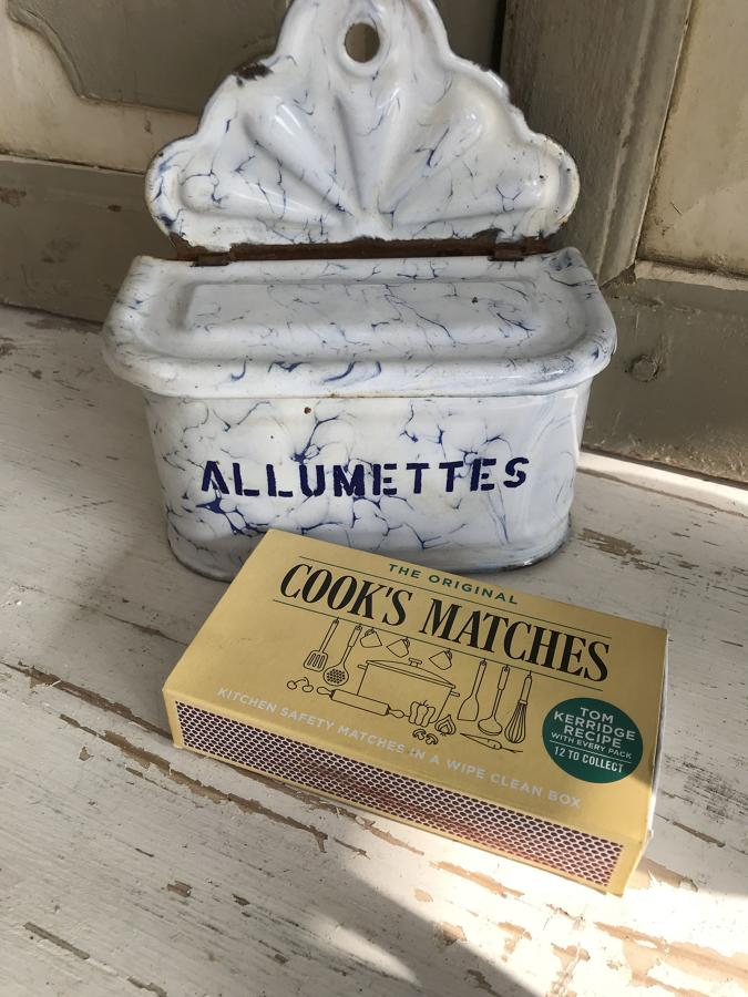 French Enamel Allumettes Box