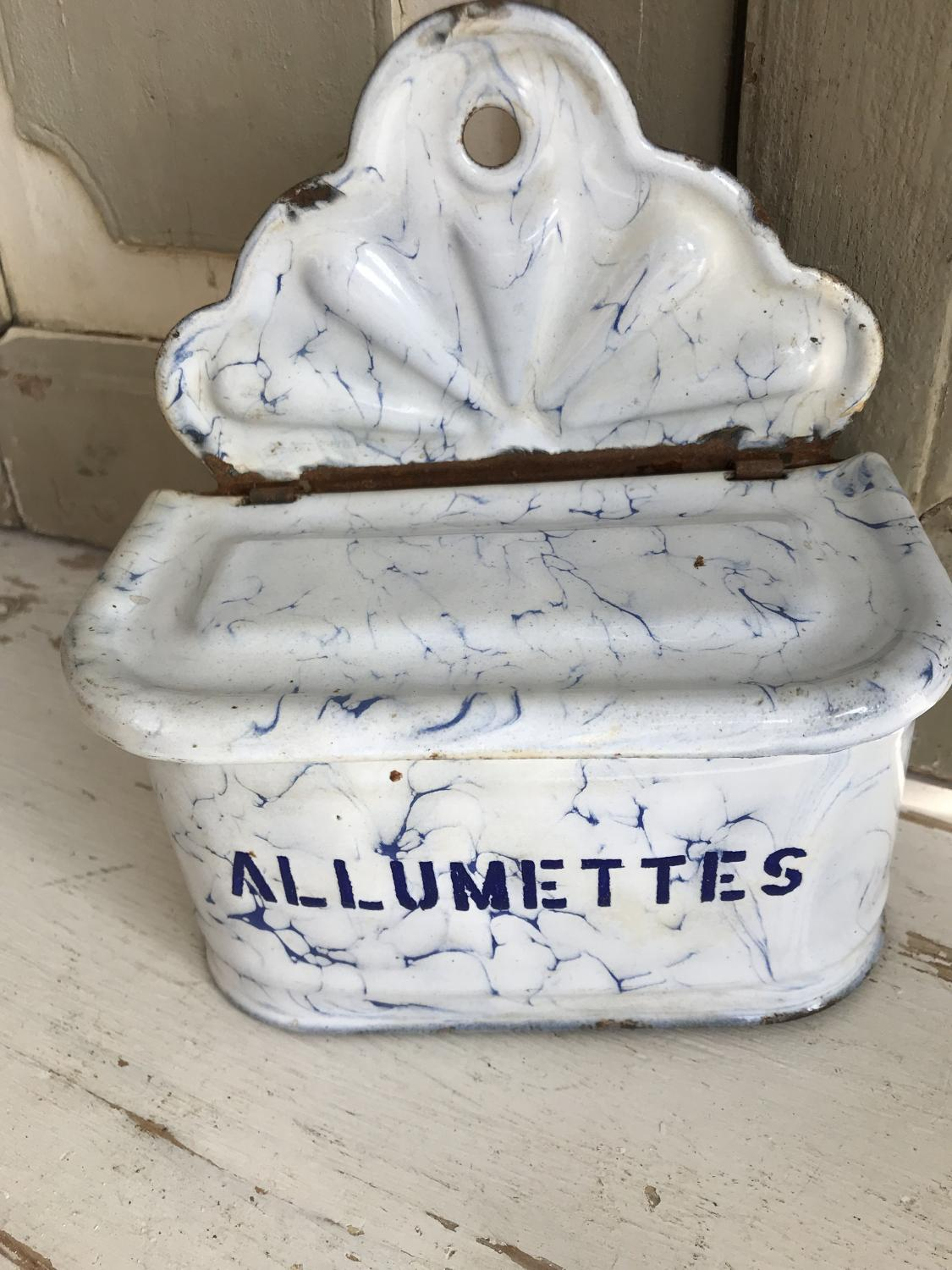 French Enamel Allumettes Box