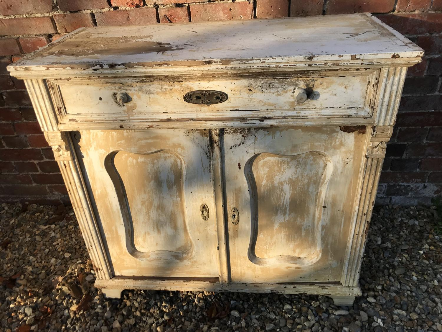 Victorian Base Cupboard with single drawer