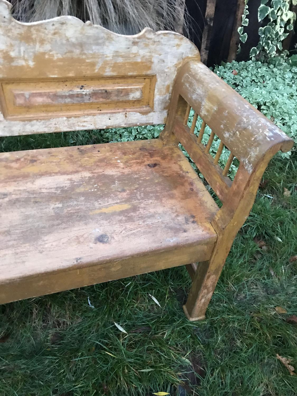 Fabulous Gustavian Bench (Ochre & cream)