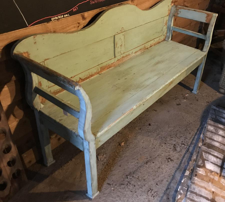 Antique Gustavian Bench (soft Green)
