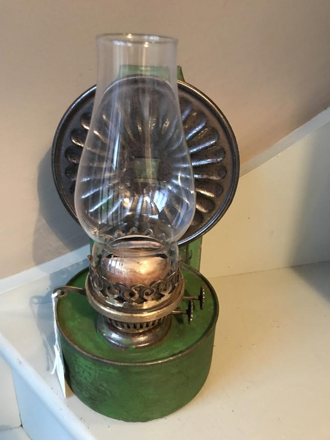 Vintage Green Wall Oil Lamp