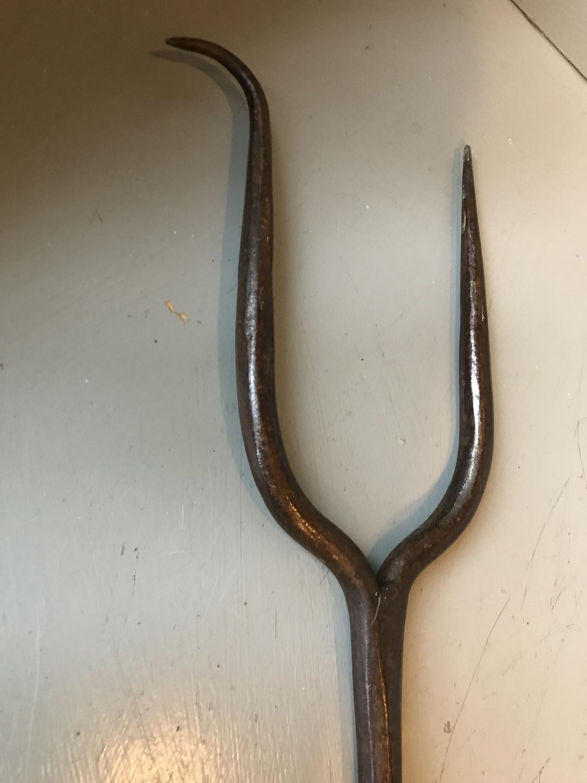 19th Cent Inglenook Log Fork