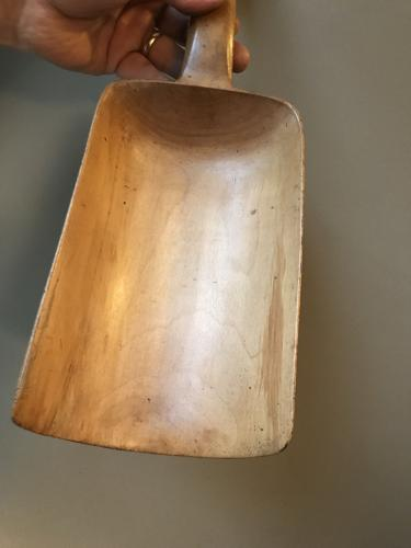 19th Cent Treen Flour Scoop