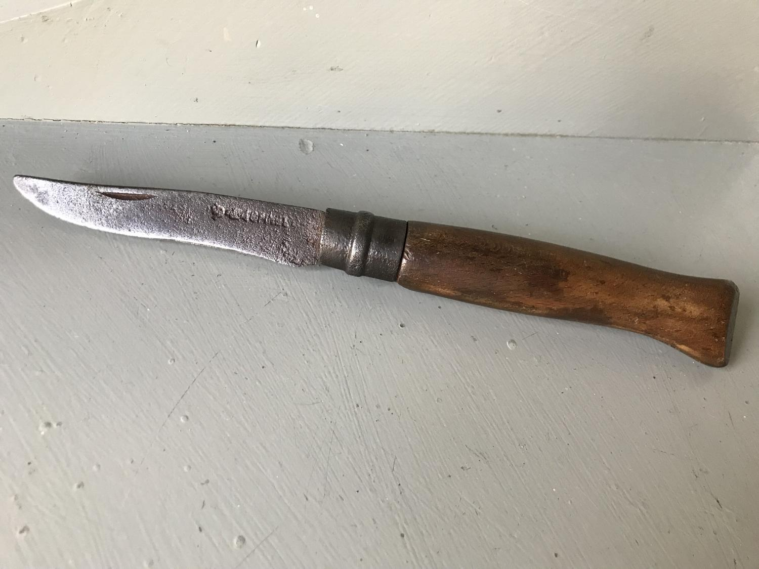 19th Cent Folding Pruning Knife