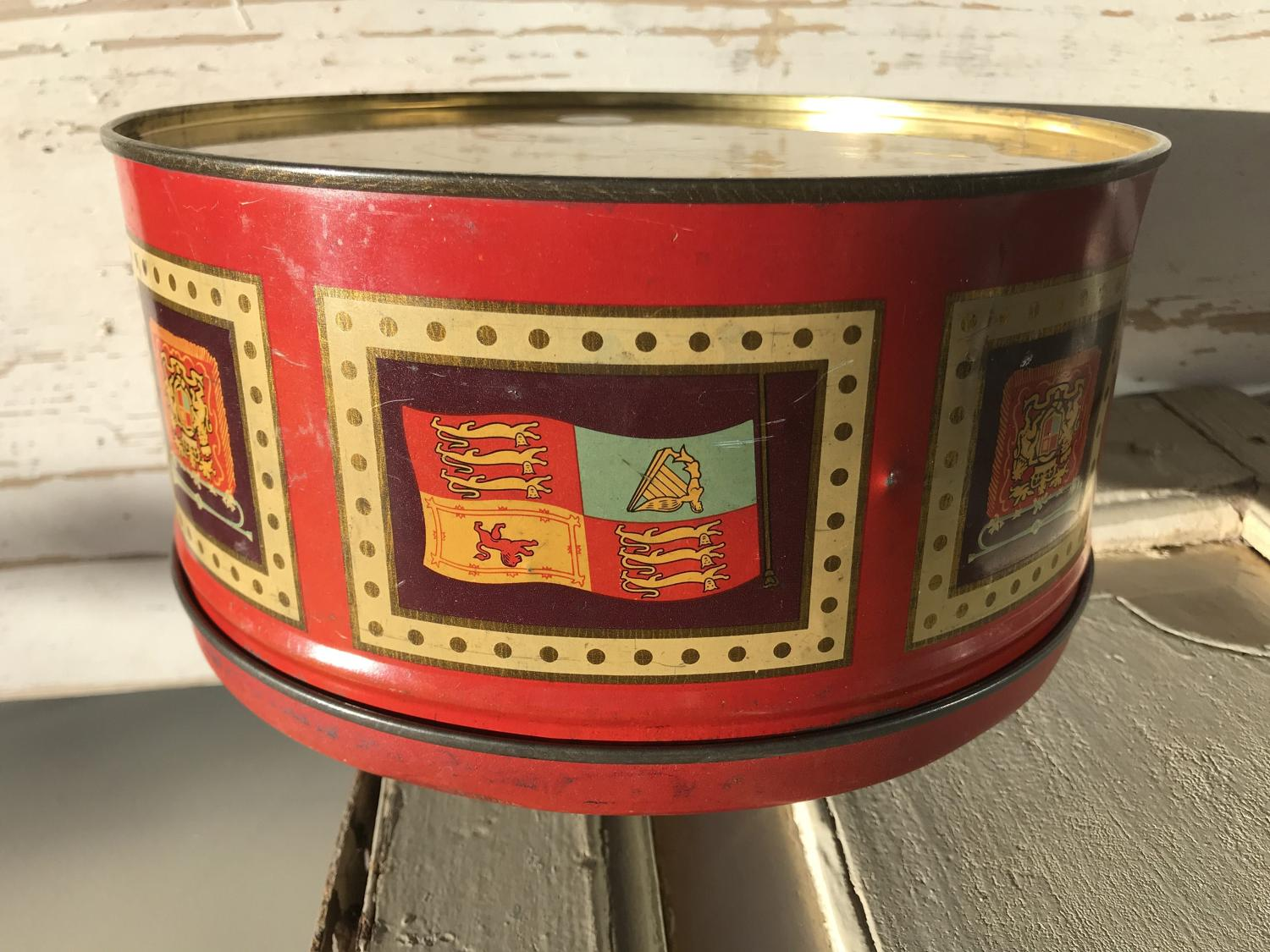 EIIR Biscuit Tin