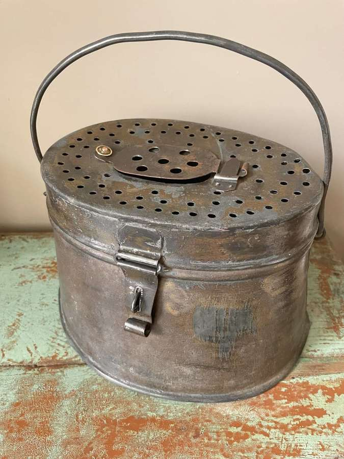 Vintage Fishermen's Bait Can