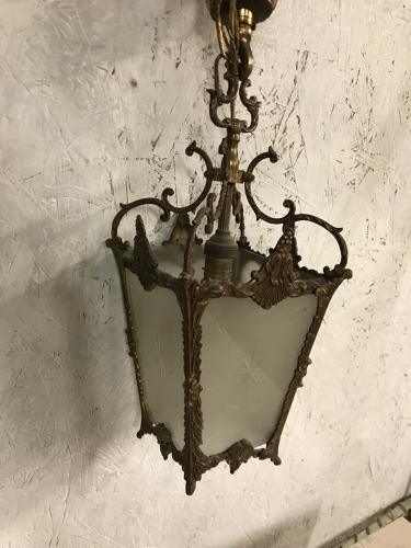 Vintage French Gilt Light