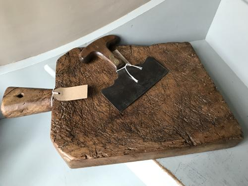 19th Cent Well Worn Kitchen chopping Board
