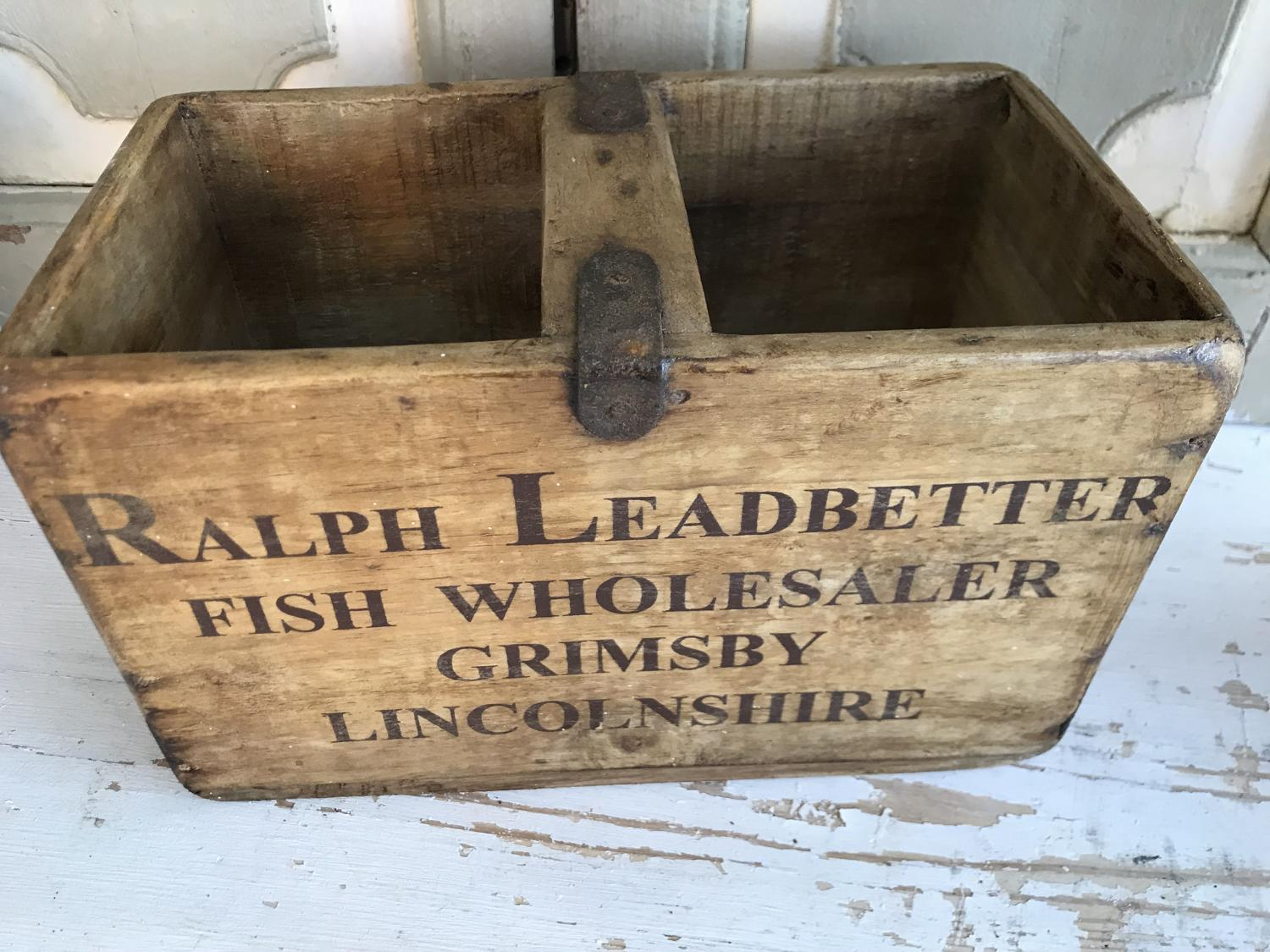 Small Wooden Scallop Trug