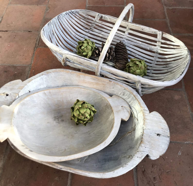 Antique Baker's Dough Proving Bowls