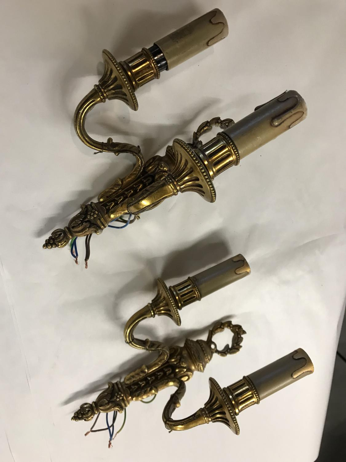 Pair of Antique Gilded Wall Lights