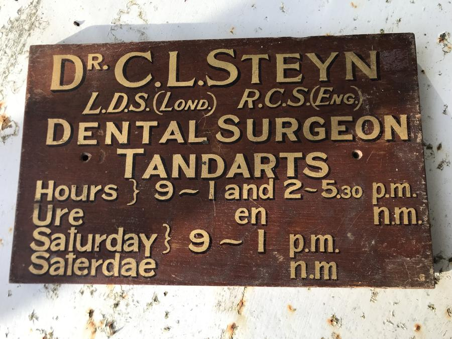 Antique Dentist Sign c.1900