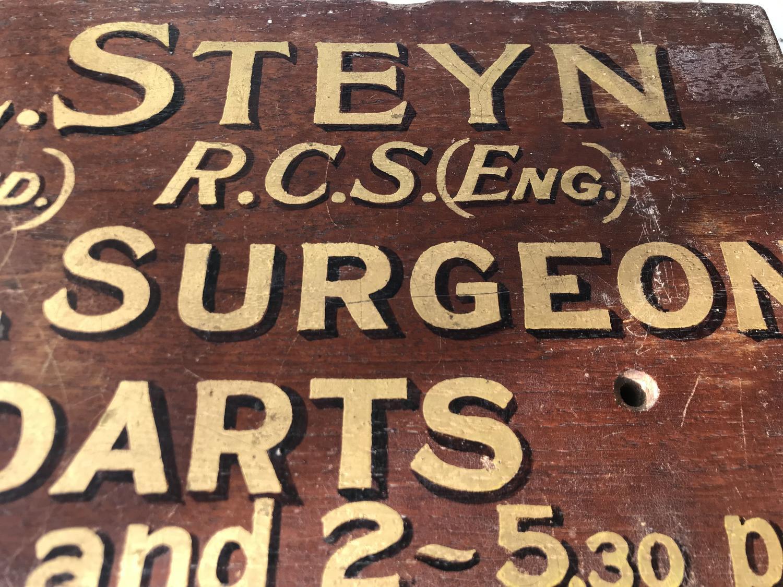 Antique Dentist Sign c.1900