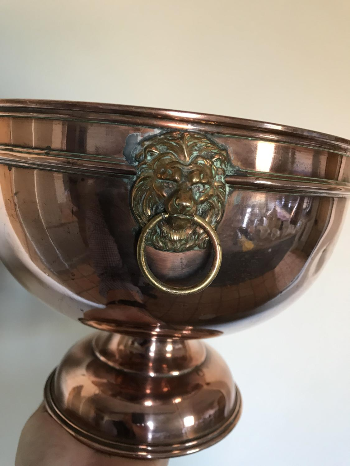 Victorian Copper Punch Bowl/Wine Cooler