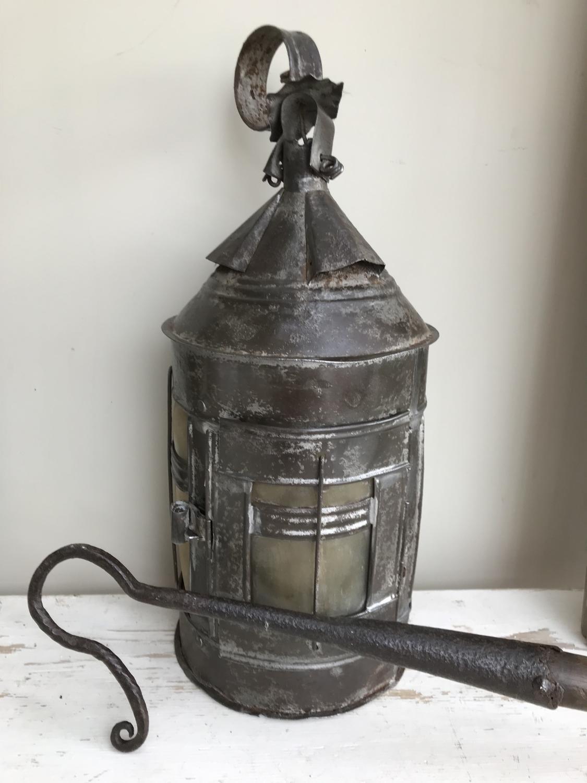 Fine English Shepherd's Horn Lantern