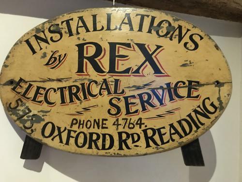 Edwardian Electrical Shop Sign