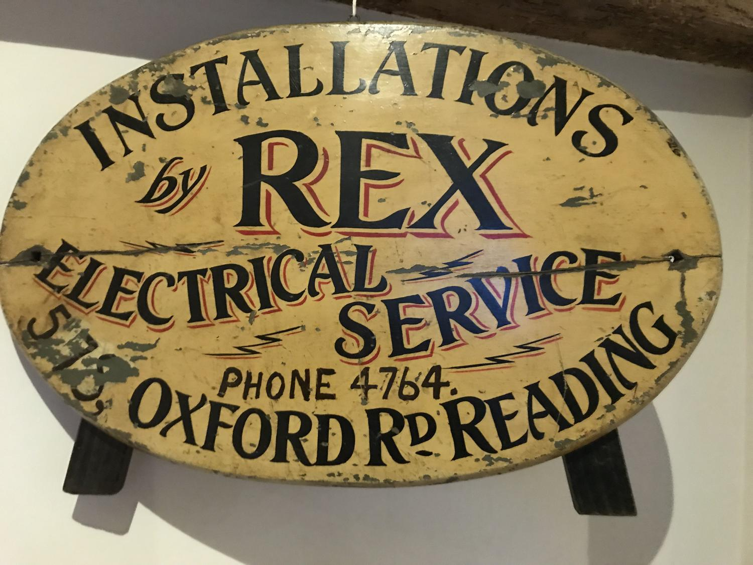 Edwardian Electrical Shop Sign